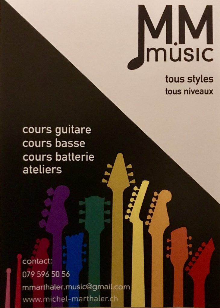 Flyer cous de guitare
